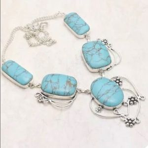 Awesome Turquoise Classic .925 Necklace
